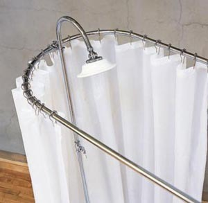 Clawfoot Bathtub Shower Rods Bathroom Design